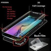 Protector de pantalla de cobertura completa 3D para móvil, película protectora de lámina para Samsung S8, S9, S10, S20 Plus, Note 10 Plus, 9, 8 (no templada)