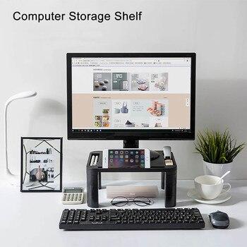 Adjustable Desktop Monitor Stand Computer Screen Riser Plastic Shelf Plinth Strong Laptop Stand Desk Holder For Notebook TV
