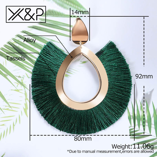 X&P Bohemian Big Tassel Drop Earrings For Women Lady Female Fringe Handmade Brincos Statement Fashion Woman Earring 2018 Jewelry 5