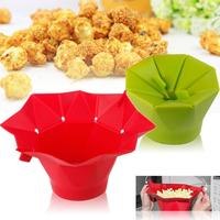 Pop Corn Bowl DIY Silicone Microwave Popcorn Easy Maker Safe Bucket Pop Corn Bowl Pot Birthday Party Supplies