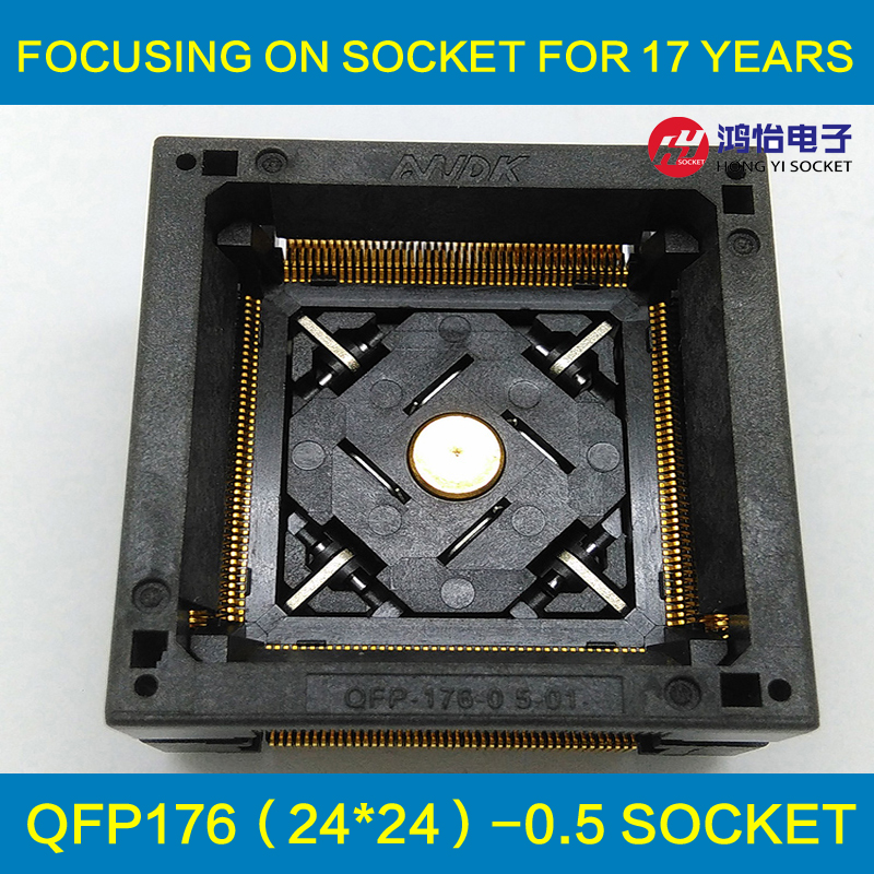QFP176 TQFP176 LQFP176 Burn in Socket Pitch 0.5mm IC Body Size 24x24mm OTQ-176-0.5-06 Test Socket Adapter tms320f2812pgfa tms320f2812 lqfp176