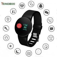 YEINDBOO Smart Watch Passometer Monitor Heart Rate Support Waterproof Smartwatch for IOS Android Bluetooth Smart Watches business smart watches round smartwatch with heart rate monitor pedometer wrist smart watches sync message for android iso phone