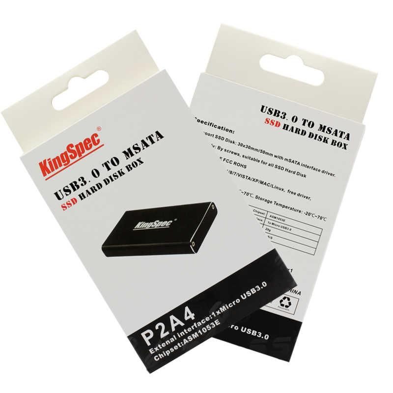 Caja de la Caja P2A4 del disco duro del USB 3,0 del mSATA
