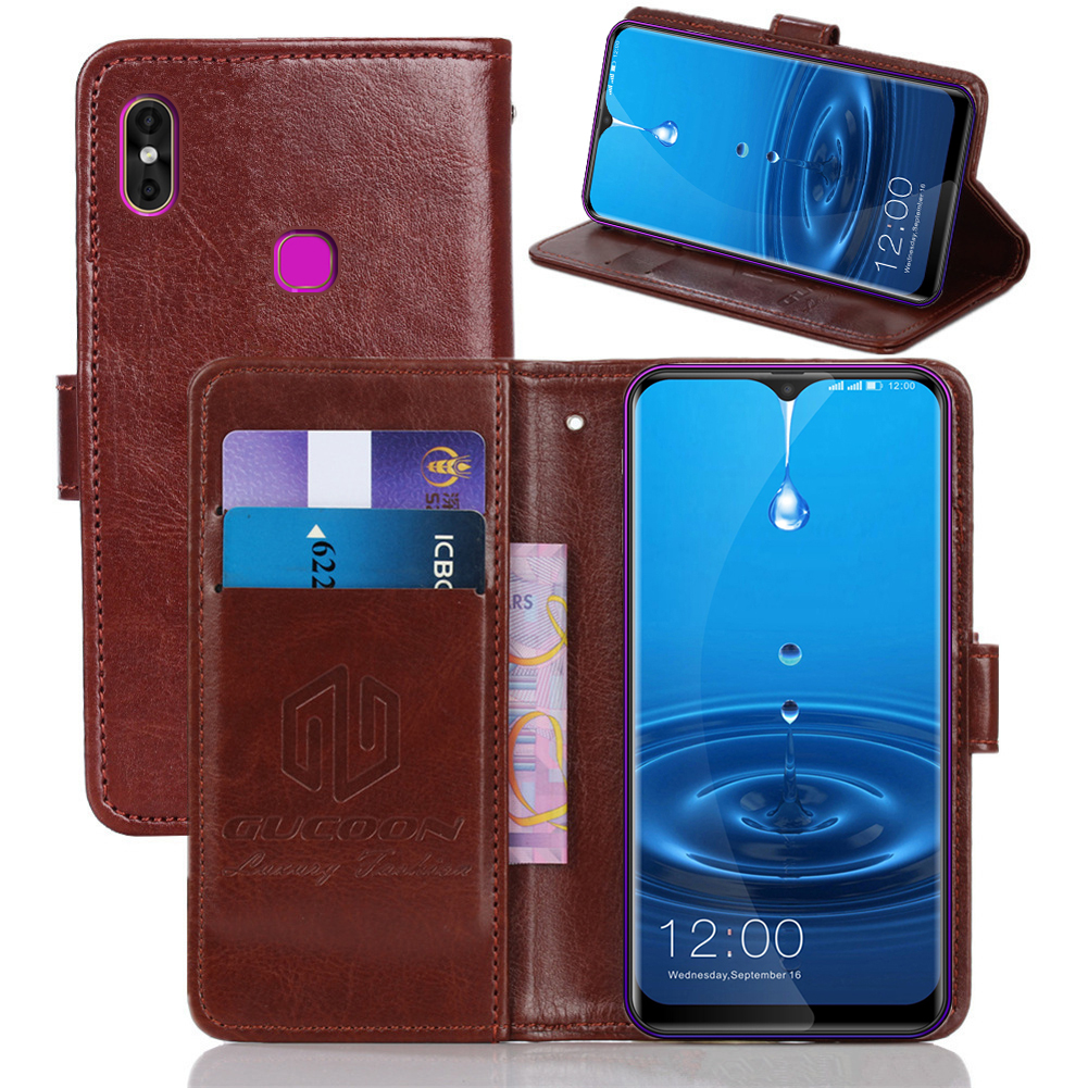 GUCOON Classic Wallet Case For Leagoo M13 M12 S11 Cover PU Leather Vintage Flip Case For Nomu M8 Fashion Phone Bag Shield