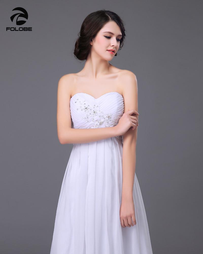 Vestido De Novia 2017 Custom Made White/Ivory Chiffon Applique Beading Lace Beach Wedding Dress Bridal Gowns 5