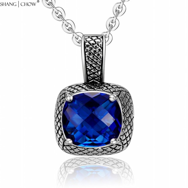 2018 vintage jewelry square huge blue quartz stone 925 sterling 2018 vintage jewelry square huge blue quartz stone 925 sterling silver pendant for women cocktail prom aloadofball Gallery