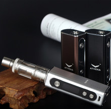 จีนเดิมvape ecig Athena 50วัตต์ควบคุมอุณหภูมิกล่องบุหรี่อิเล็กทรอนิกส์สมัยสมัย10เซ็ตขายส่ง
