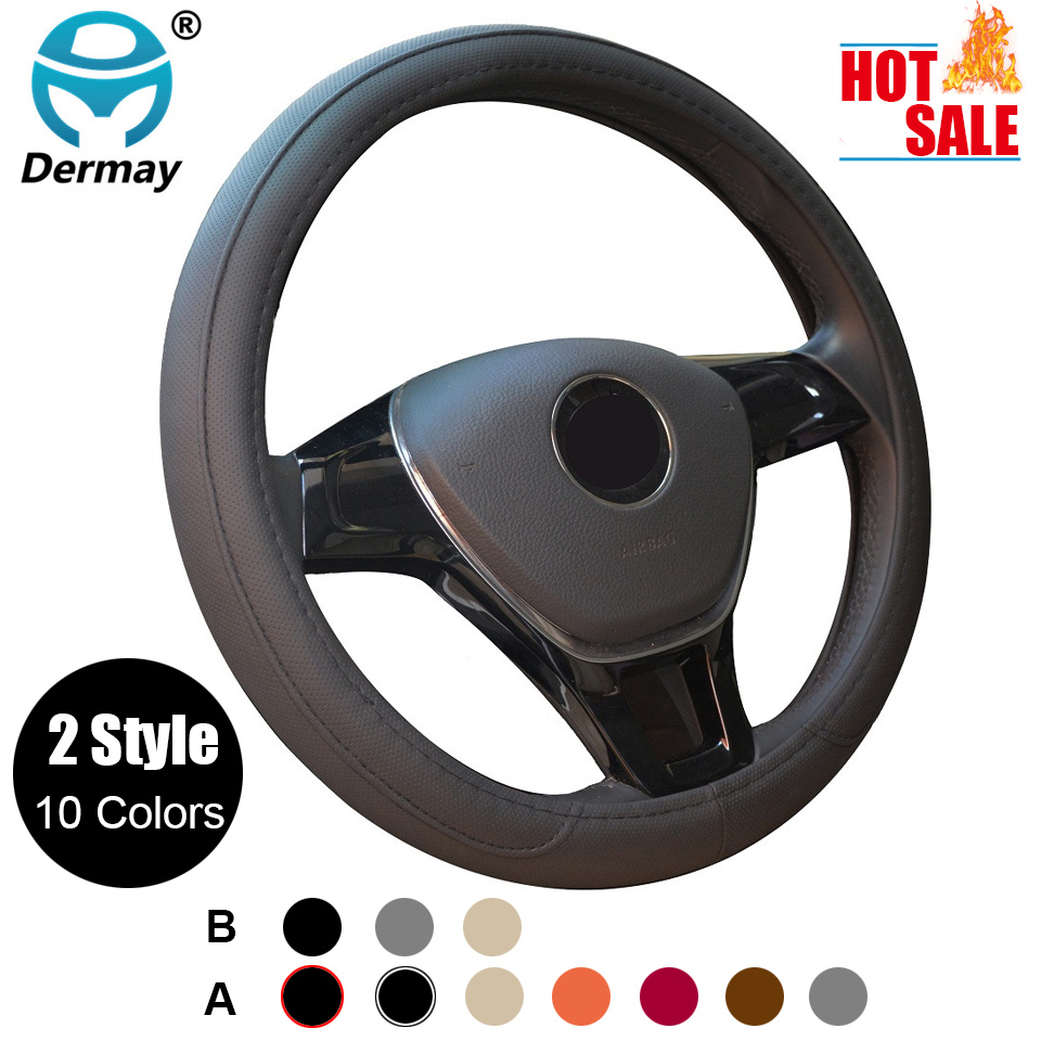 CAR STEERING WHEEL COVER MULTI CHOICE SIZE M DIAMETER 38CM AUTOMOTIVE INTERIOR ACCESSORIES FREE SHIPPING image