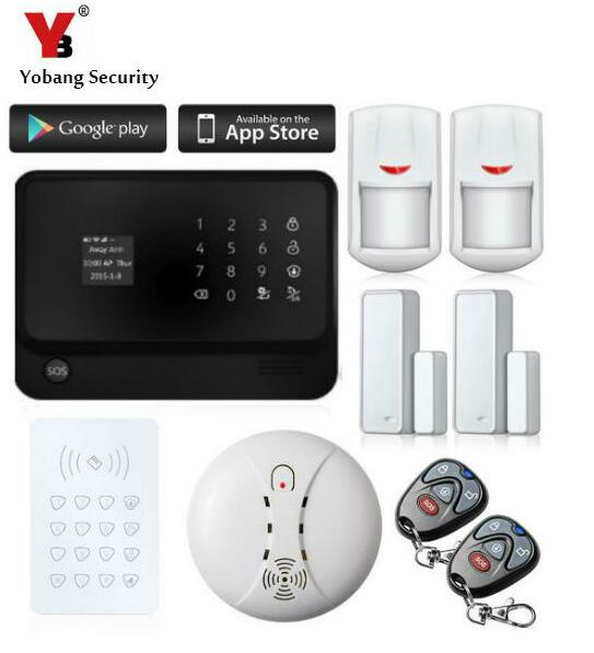 Yobang Security Wifi Wireless GSM Alarm mobile call gsm alarm system GSM Alarmas LCD Keyboard Door Winodw PIR Sensor Alarm wireless service call bell system popular in restaurant ce passed 433 92mhz full equipment watch pager 1 watch 7 call button