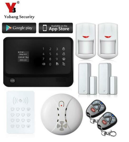 Yobang sécurité Wifi sans fil GSM alarme mobile appel gsm système d'alarme GSM Alarmas LCD clavier porte Winodw PIR capteur alarme