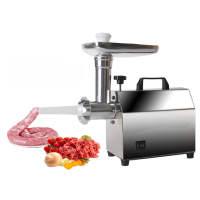 ITOP 140W Home Electric Meat Grinder Sausage Stuffer Stainless Steel Mincer Maker Silver Meat Fish Cutter Machine Food Processo