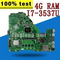 Laptop motherboard para For Asus X550CA X550CA X550CC X550CL R510C Y581C X550C X550 Teste mainboard original 4G RAM I7-3537U