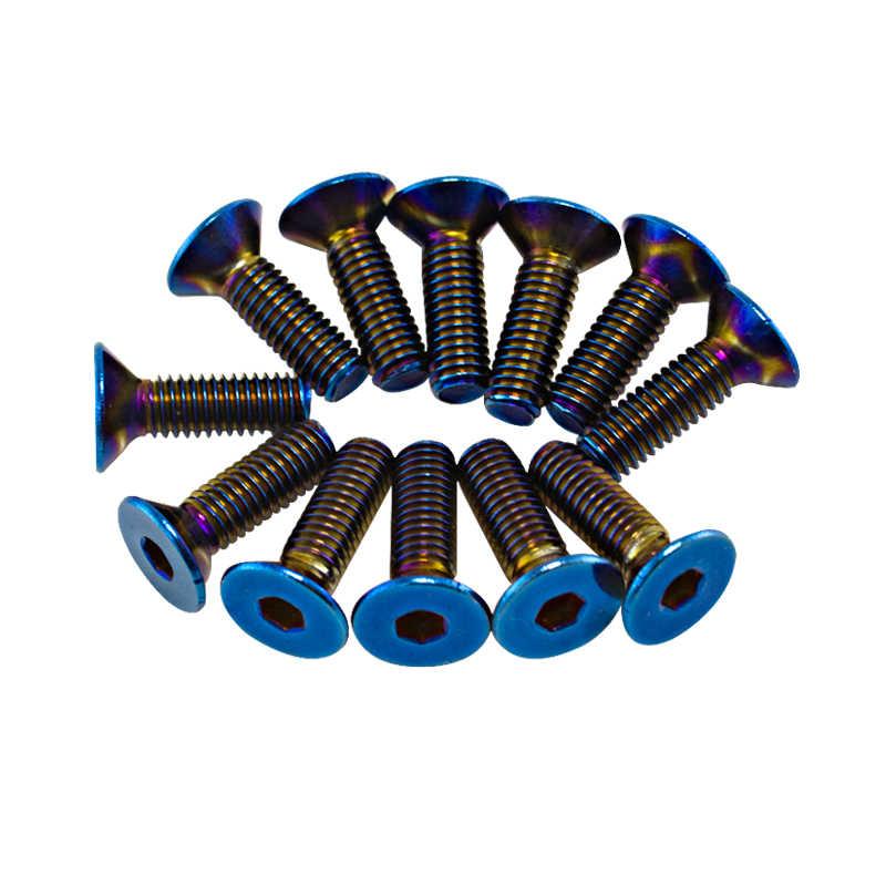 WLR RACING - 6 개/몫 탄된 티타늄 스티어링 휠 볼트가 많은 스티어링 휠에 적합 벨 보스 키트 WLR-LS06CR-T