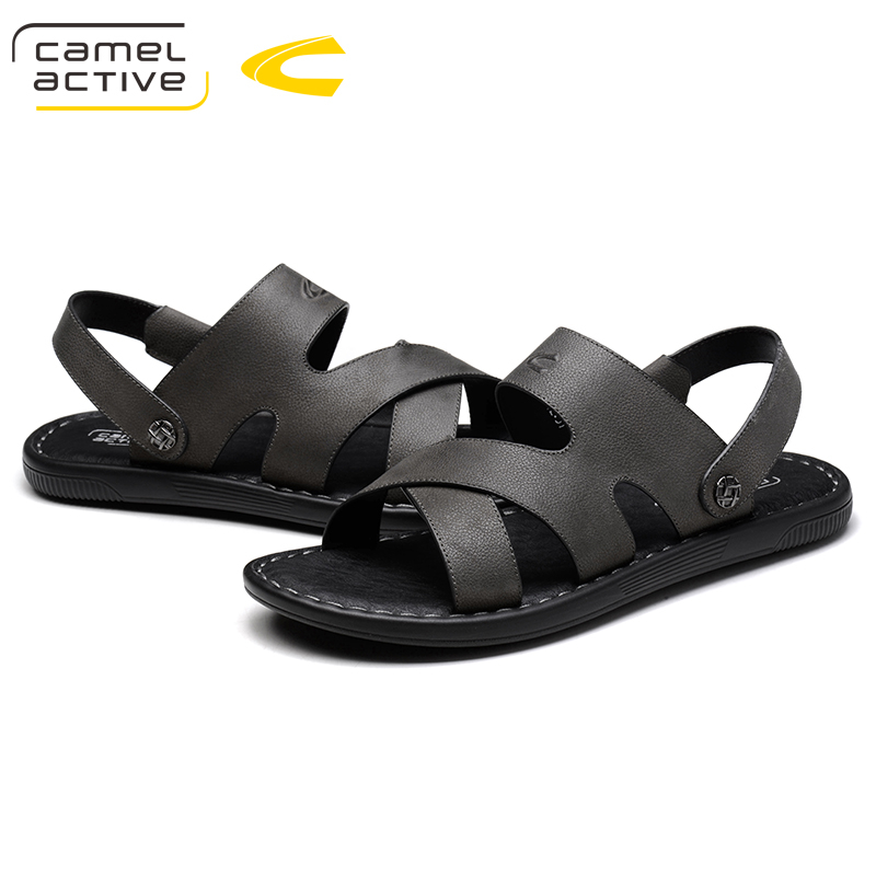 Camel Active New Hot Sale New Fashion Summer Leisure Beach Men Shoes High Quality Leather Sandals The Big Yards Mens Sandals