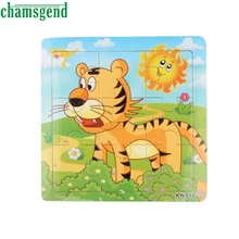 Wooden Puzzle Tiger Jigsaw Toys For Kids Education And Learning Puzzles Toys brinquedo juguetes Aug12