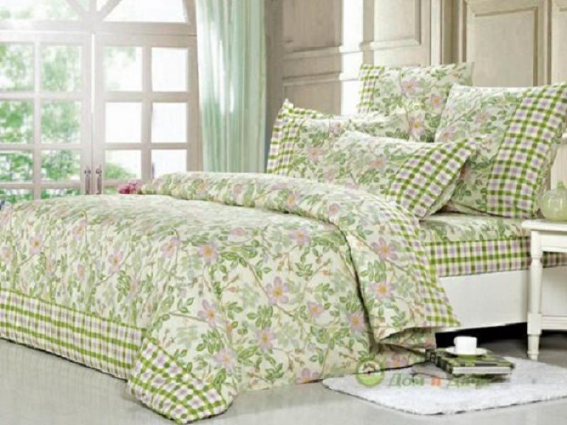 Bedding Set double СайлиД, A green pattern skull pattern luggage bag tag fluorescence green