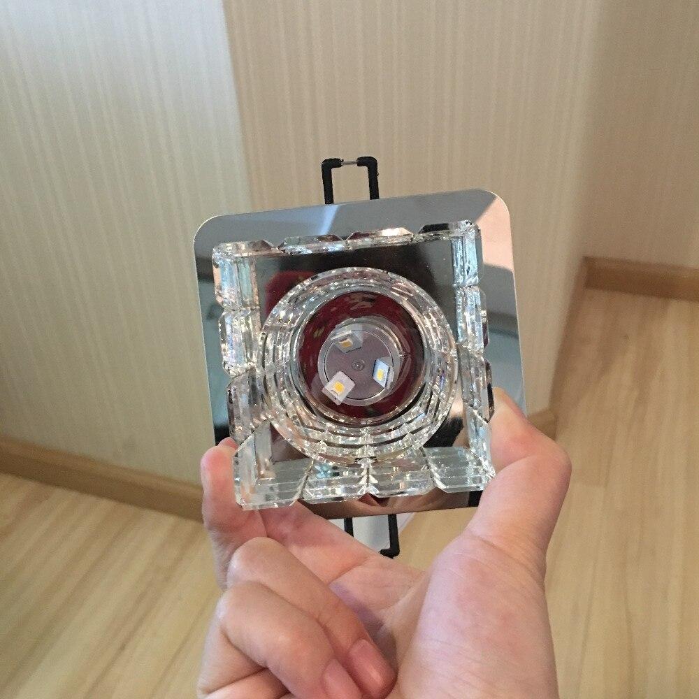 cristal new modern led luz de teto luminarias corredor quarto cozinha montagem embutida lampadas l89