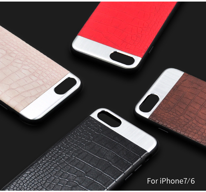 Kasatin Corrodie Pattern Leather Back Cover for iPhone 6 (3)