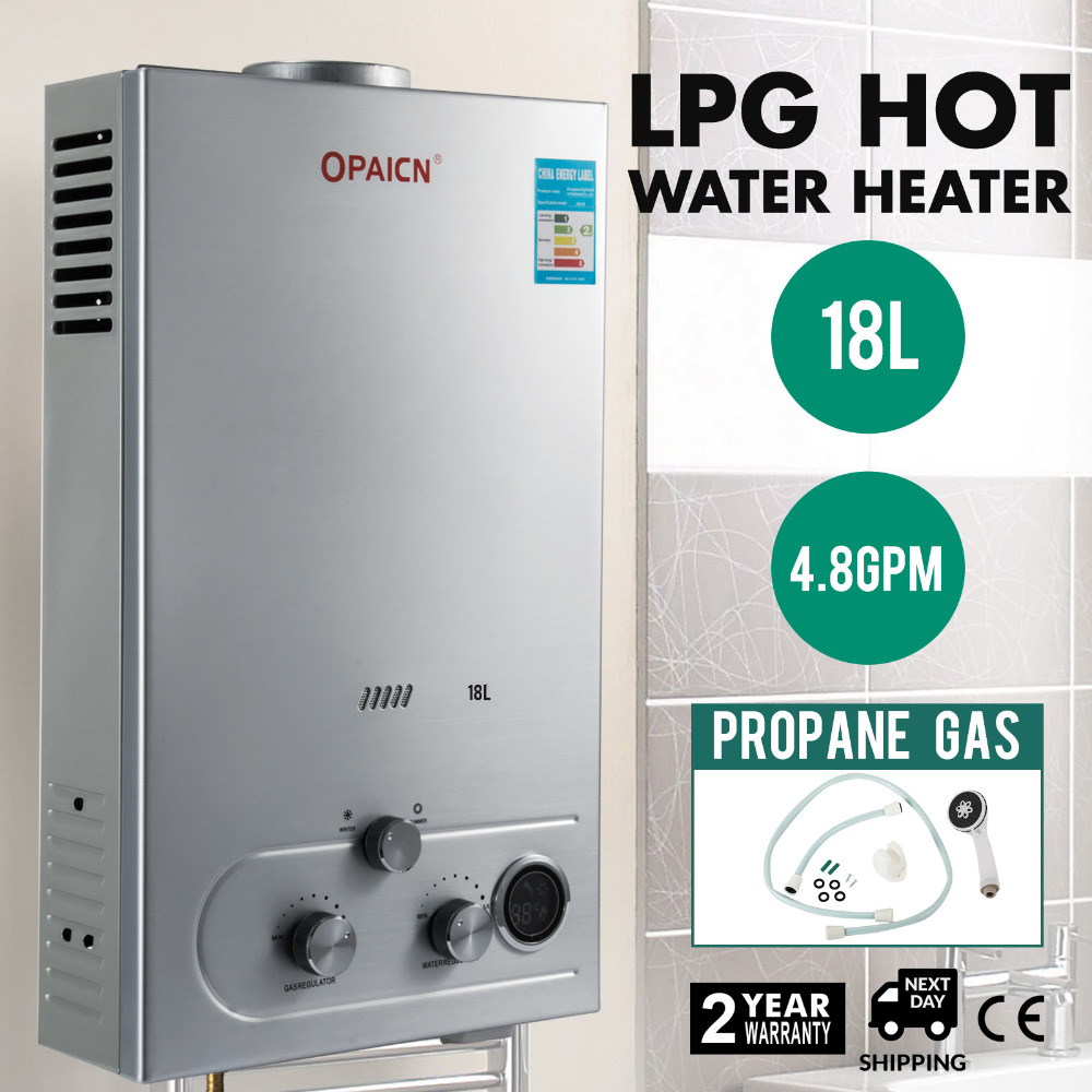 18l 4 8gpm Lpg Propane Gas Hot Water Heater Tankless