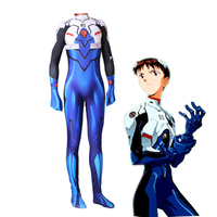 Anime NEON GENESIS EVANGELION Plugsuit Cosplay Costume EVA Ikari Shinji Zentai Bodysuit Suit Jumpsuits
