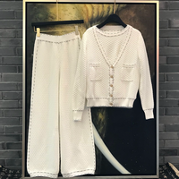 2018 Autumn Jacket Pants Suit Women's Cardigan Short Sleeve Leggings Knit Three piece Boutique Women's Tracksuit Women Clothing