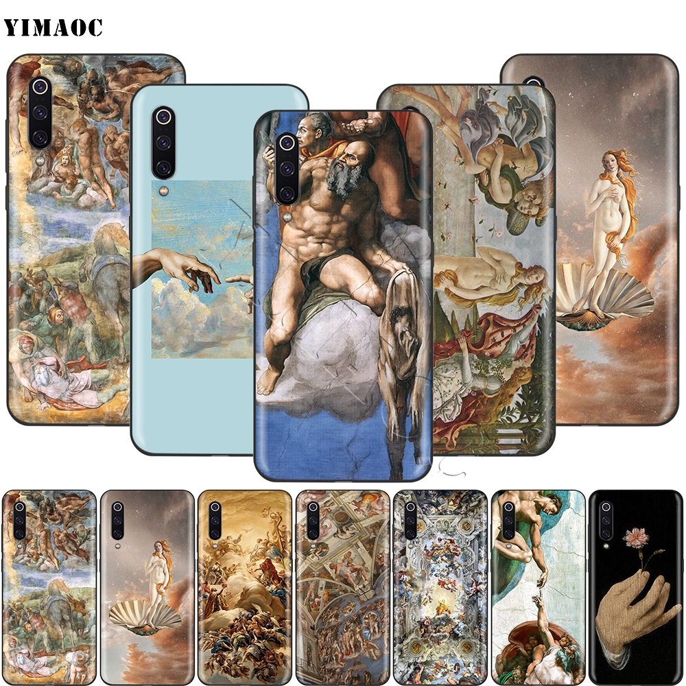 YIMAOC Michelangelo The Creation of Adam Case for Xiaomi Redmi mi Note MAX 3 6a 7 6 8 9 se mi6 mi8 a1 a2 Lite 8A f1