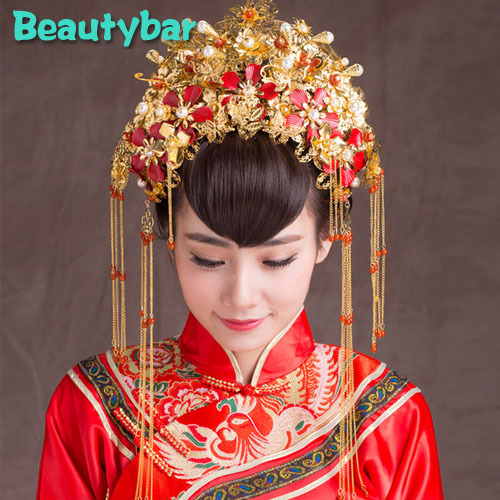 Vintage Chinese Traditional Wedding Jewelry Adorn Costume Hair