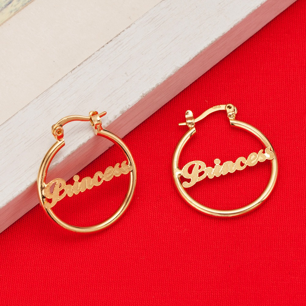 New Girls Cute Hot Princess Love Earrings Brass Women Men Baby Popular Fashion Earrings Jewelry