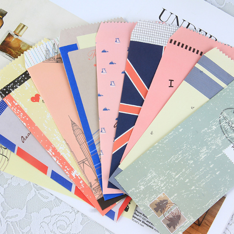5pcs/lot Vintage Navy Style Envelope Writing Paper Stationery Birthday Christmas Card Envelopes Gift Office Stationery Supplies
