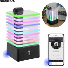 New Creative Portable Wireless Bluetooth Speaker Fashion Colorful LED Light Stereo Super Bass Speaker For Smartphone Computer