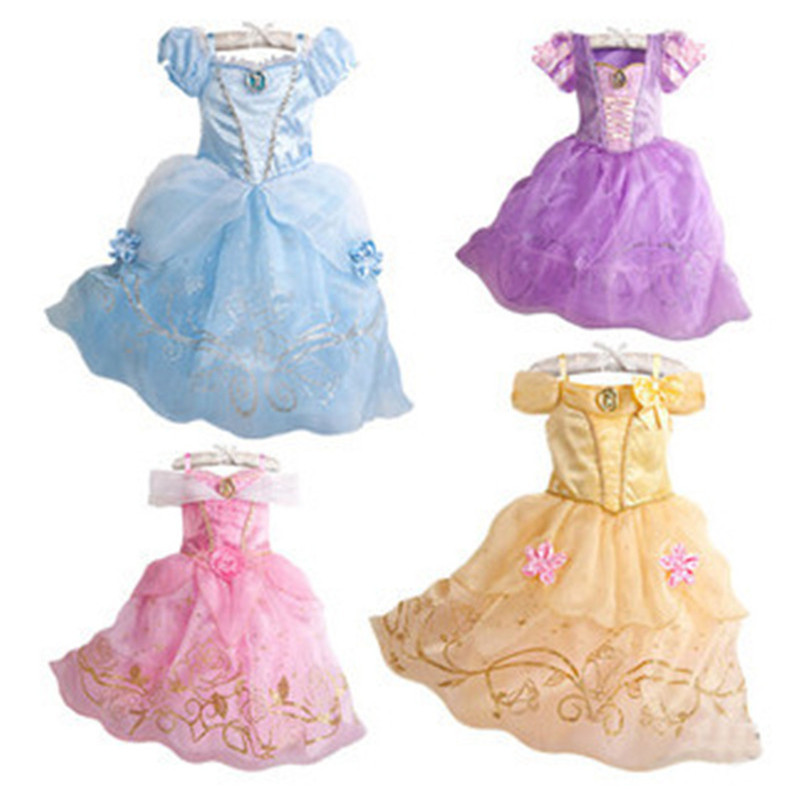 Kids Elsa Dress for Girls Rapunzel Princess Costumes Infant Cinderella Party Dress Toddler Snow Queen Dresses Child Lace Clothes christmas international children s day costumes girls dresses for princess new year birthday dress snow queen kids clothes
