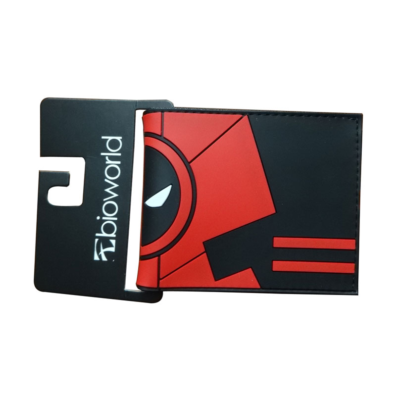 New Designs Purse Anime Deadpool Wallets portefeuille femme Card Money Holder Bags Casual PVC Short Wallet hot pvc purse games overwatch wallets for teenager creative gift money bags fashion casual men women short wallet