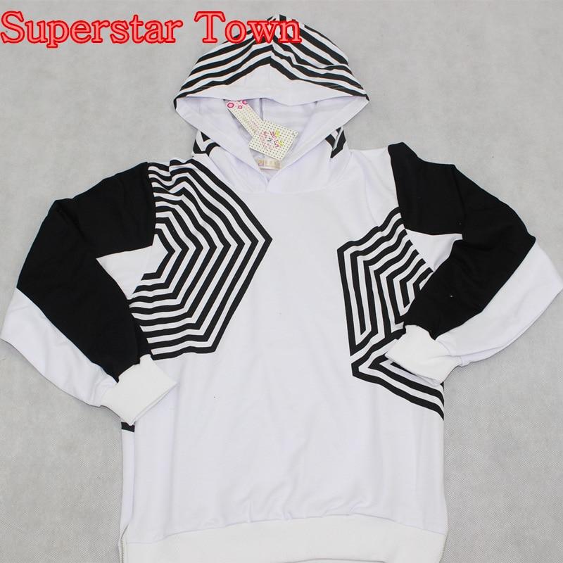 EXO جرعة زائدة سيول الحفل هوديي للجنسين كم طويل البلوز قميص معطف البلوفرات EXO KPOP كوريا ستايل