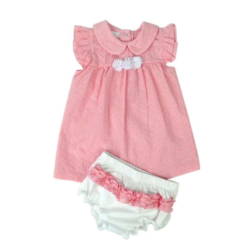 Flowers Newborn Baby Clothing Sets Summer Girls Tops Dress Panties Outifits Princess Lace Puff Sleeve Infant