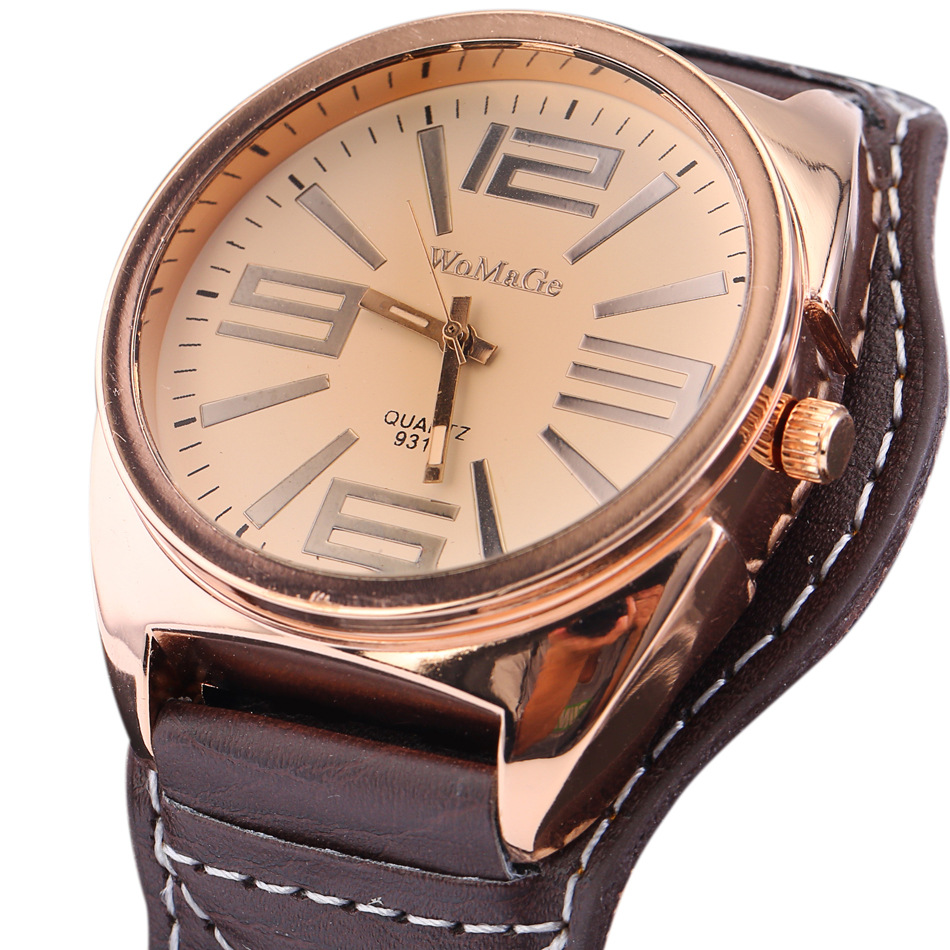 High Quality Fashion Brand Pu Leather Watch Women Ladies Man Unisex Dress Quartz Watches Big Numerals Watch Christmas Gift Clock xiniu retro wood grain leather quartz watch women men dress wristwatches unisex clock retro relogios femininos chriamas gift 01