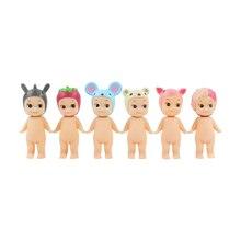6 יח\חבילה סוני מלאך איור צעצוע סוני מלאך קיופי בובת בעלי החיים עכבר חזיר סאקורה תינוק דגם בובות מתנה לילדים