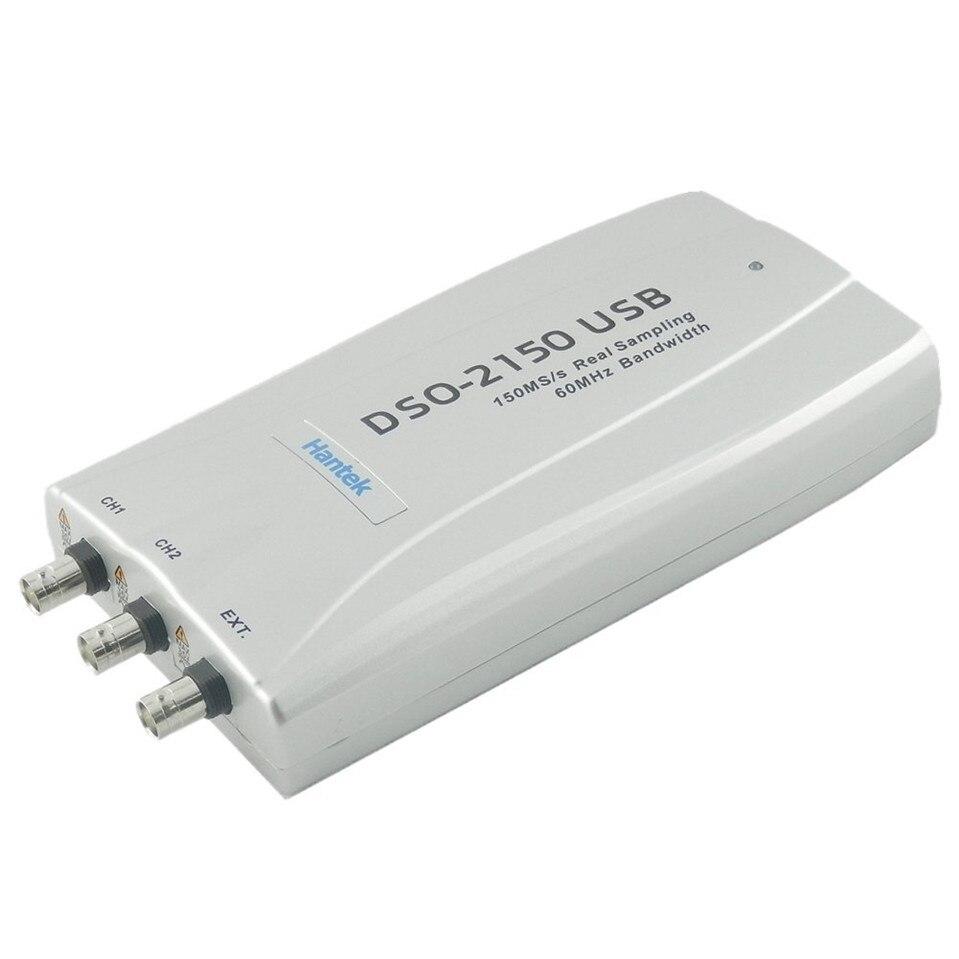 2017 Original Hantek DSO-2150 USB 60MHZ 150MSa/s PC USB Digital Storage Virtual Oscilloscope DSO2150 Free Shipping осциллограф hantek 6022be usb storag 2channels 20 48msa s