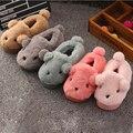 Invierno Cálido Zapatillas de Felpa Zapatillas de Interior de Dibujos Animados Para Niños Antideslizante Niños Niñas Zapatillas de Algodón de Felpa Zapatillas de Casa