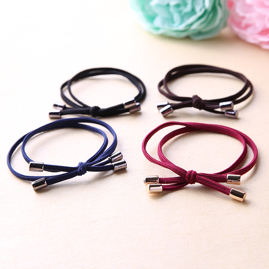 10PCS/Lot High Quality Elastic Hair Rubber Band Fashion Simple Hair Accessories Children Adult Ponytail Holder