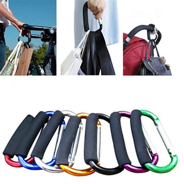7 Colors Baby Stroller Hooks Hanger for Baby Buggy