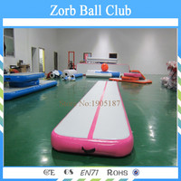 Free Shipping 7x1x0.2m Indoor Used Sports Equipment Gym Mat Air Tumbling Mat Inflatable Air Track for Sale