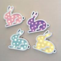 Jiaderui Cute Rabbit Led Night Light Wooden For Children Kids Gift Wall Lamp Bedside Bedroom Living