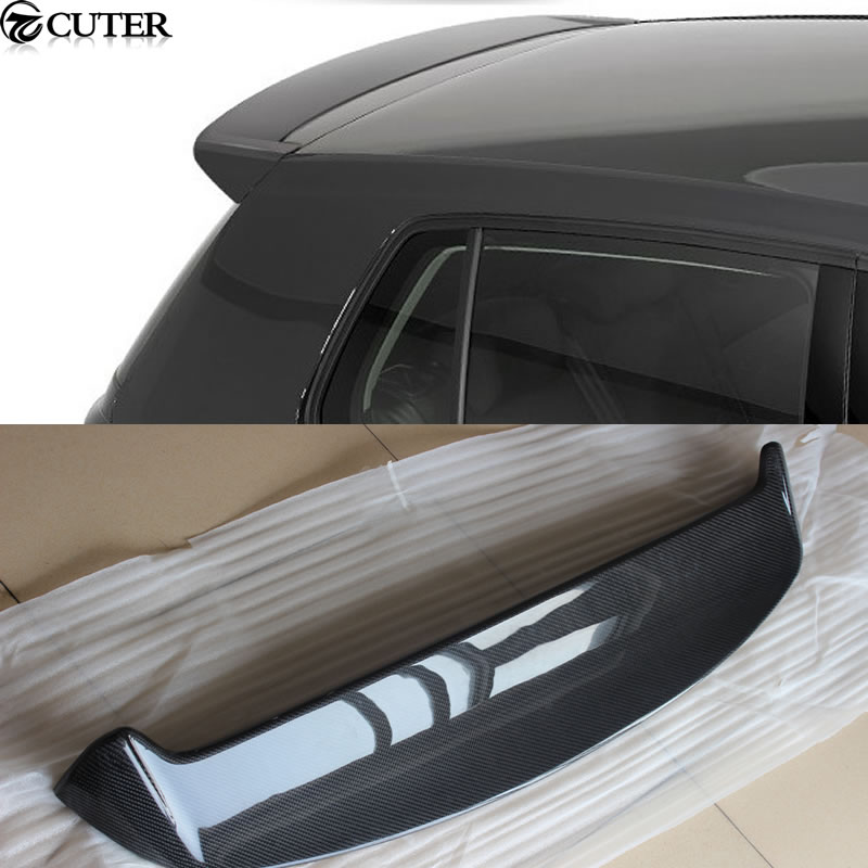 Крыши крыла Гольф 7 MK7 стайлинга автомобилей углерода Волокно задний спойлер для Volkswagen VW Гольф 7 GTI & R 2014up