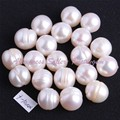 O Envio gratuito de 9-10mm Nearround Forma Natural de Água Doce Branco Cultivar Pérola Gem Stone Beads 10 Pçs/lote (NÃO ORIFÍCIO) atacado