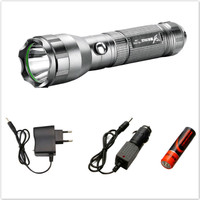 YAGE 332C CREE Waterproof Tactical Led Flashlight With 1 18650 Battery Car Charger Self Defense Rechargable