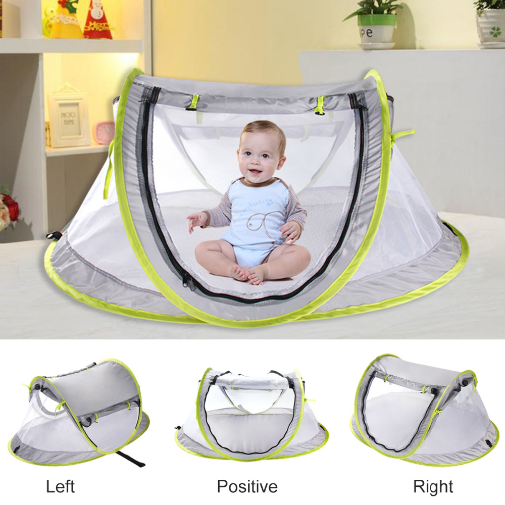 Large Baby Portable Beach Play Tent Provide UPF 50+ Sun Shelter,Baby Travel Bed Lightweight Pop Up baby Mosquito Net By Summer
