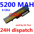 5200MAH NEW 6cells Laptop Batteries for lenovo G460 BATTERY G470 Z460 Z470 G560 V360 Z560 V560 E47 Z370 Z465 B570 B575 V470