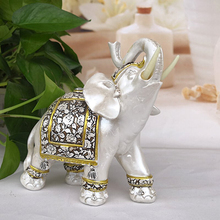 цена Animal Elephant Decoration Resin Non-toxic Creative Home Craft Figurine Statue Feng Shui Good Luck Accessories
