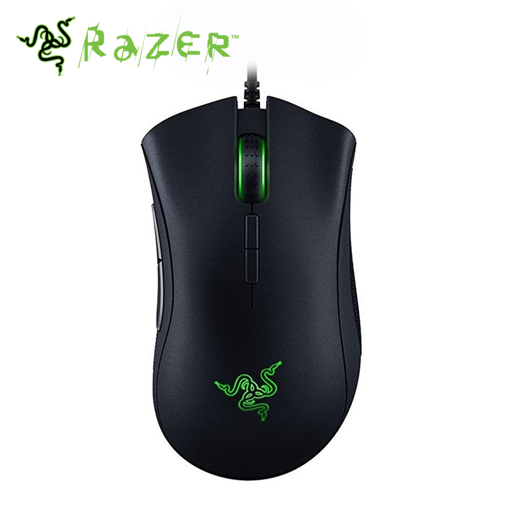 [ Ship from Spain ] Razer DeathAdder Elite Wired Gaming Mouse 16000DPI Optical Sensor Ergonomic Gaming Mouse razer taipan usb 2 0 wired 8200dpi dual sensor system laser gaming mouse black 200cm cable