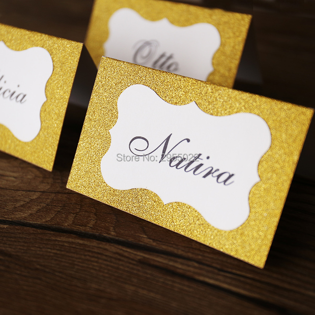Glitter gold wedding table numbers party Table number cards